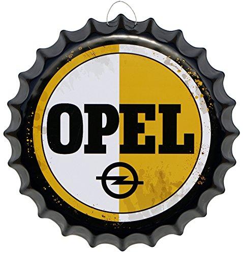 kronkorken-opel-service-rund-blechschild-oe-41-cm-reklame-deko-schild-blech-kk14