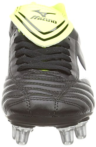 Mizuno - Fortuna Rugby Sp, Scarpe Rugby da uomo Nero (black/white/yellow)