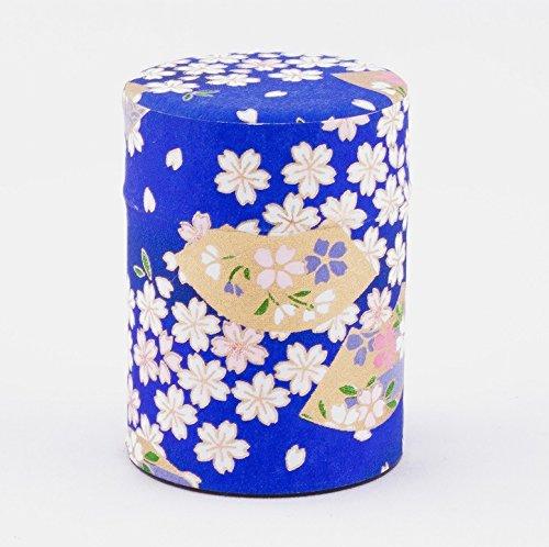 boîte à thé, recouvert de papier de soie japonais, boîtes et motif de fleur, 40 g