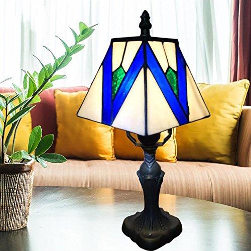 Vintage Traditionelle Antike Tischlampe Stil Glasmalerei Tiffany Stil Tischlampe Schlafzimmer Lampe Nachttischlampe Lampenschirm Nachttischlampe Für Schlafzimmer Bar Cafe Restaurant Tischlampe (Glasmalerei Tiffany-stil-lampe)