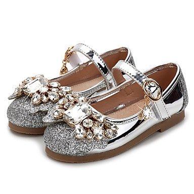 LIDOG Mariage Habillé Décontracté Soirée & Evénement-Rose Argent Or-Talon Plat-Confort Light Up Chaussures-Ballerines-Synthétique golden