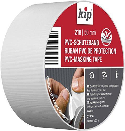 Kip PVC-Klebeband - Abklebeband für Maler und Lackierarbeiten, 50 mm x 33 m, weiß