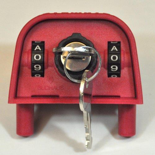 *Original Sudhaus Mülltonnenschloss Schwerkraftschloss 2310 mit Zahlenkombination und Schließzylinder für Mülltonnen mit Standarddeckel*