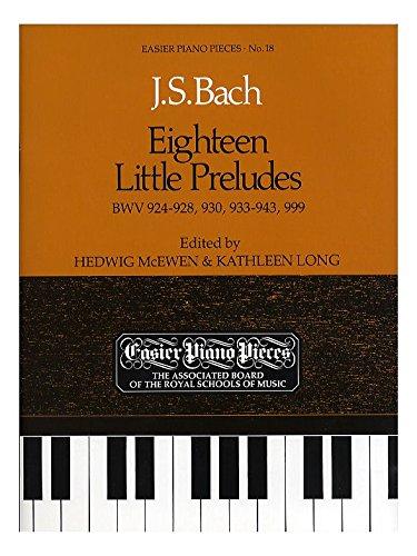 J.S. Bach: Eighteen Little Preludes. Sheet Music for Harpsichord, Piano
