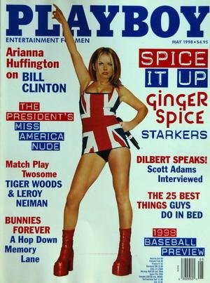 PLAYBOY EDITION US du 01/05/1998 - SPICE IT UP GINFER SPICE STARKERS - DILBERT SPEAKS / SCOTT ADAMS - THE 25 BEST THINGS GUYS DO IN BED - ARIANNA HUFFINGTON ON BILL CLINTON - MATCH PLAY TWOSOME - TIGER WOODS AND LEROY NEIMAN - BUNNIES FOREVER A HOP DOWN EMORY LANE
