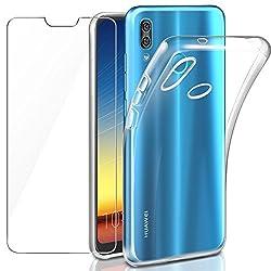 Leathlux Huawei P20 Lite Hülle + Panzerglas, P20 Lite Durchsichtig Case Transparent Silikon Tpu Schutzhülle Premium 9h Gehärtetes Glas Für Huawei P20 Lite