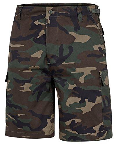 BlackSnake® US Army Ranger Shorts BDU Cargo kurze Hose in verschiedenen Farben Woodland S (Shorts-woodland Camo Combat)