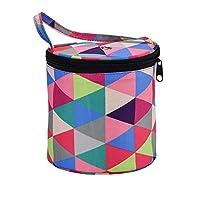 Prosperveil Knitting Yarn Storage Bag Wool Holder Skeins Needles Organiser Storage Basket Tote Bags for Crochet Hooks Knitting Accessories (Bucket Bag)