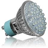 HomeLights HSECG127 Lichtspot - Lichtspots (Silber, Transparent, GU10, LED, warmweiß, Innenraum)
