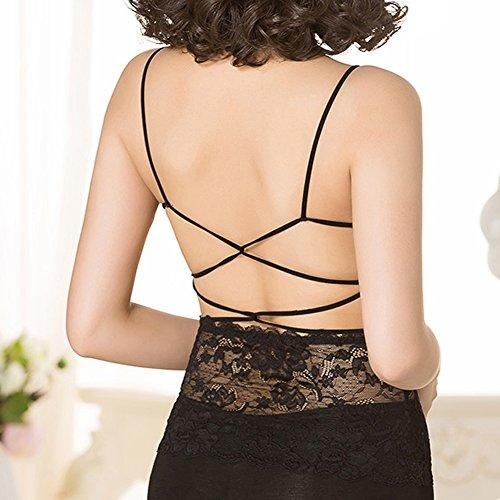 La Cabina Femme Sexy Combinaison Débardeur Moulante Taille Haute pour Soirée Cocktail Bar Noir
