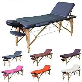 Lettino Da Massaggio Portatile Leggero.Naipo Lettino Massaggio Spa Tre Parti Ripiegabili E Gambe In