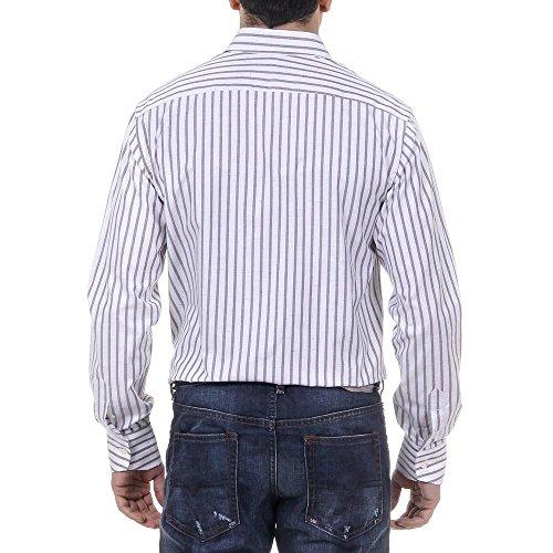 Versace 19.69 Abbigliamento Sportivo Srl Milano Italia Mens Classic Neck Shirt 377 VAR. 515 Striped