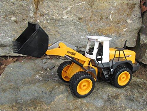 RC Auto kaufen Baufahrzeug Bild 5: Jamara RC Bagger Radlader Inklusive Kieselsteine 440 1:20 Länge 44cm Ferngesteuert*