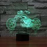 3D Moto Night Light Lamp 7 cambiamento di colore LED USB touch Table Gift Kids Toys Decor decorazioni di Natale regalo di San Valentino regalo di compleanno