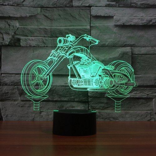 3D Motorrad Illusions LED Lampen Tolle 7 Farbwechsel Acryl berühren Tabelle Schreibtisch-Nacht licht mit USB-Kabel für Kinder Schlafzimmer Geburtstagsgeschenke Geschenk