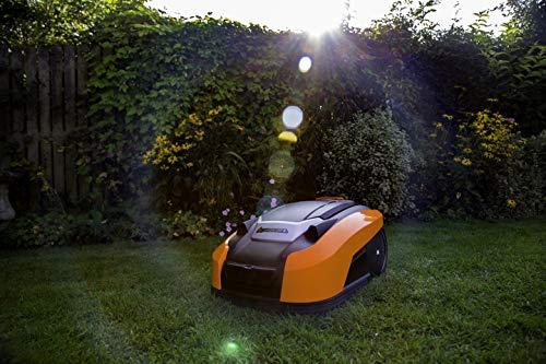 YARD FORCE X60i Mähroboter mit App-Steuerung – Selbstfahrender Rasenmäher Roboter mit Regensensor – Akku Rasenroboter für bis zu 600m² Rasen & 40% Steigung 28 V, schwarz/orange - 6