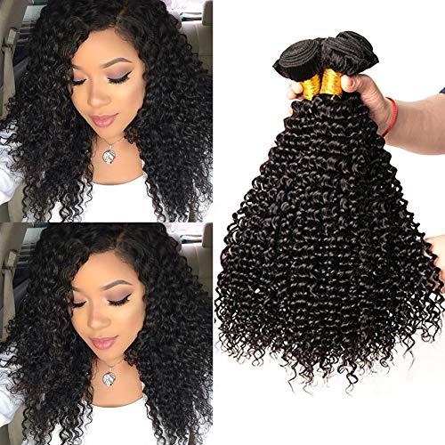 Musi 8A Brazilian Hair Kinky Curly hair 100% Human Hair Bundles brasilianische Haare brasilianische menschliche Hair Echthaar Weave Curly Virgin Hair Natürliche 300g (8 8 10 Zoll 1b) - 10-zoll-haar-bürste