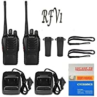 RFV1(tm) BF-888S UHF 400-470MHz CTCSS/DCS Handheld Radio Walkie Talkie Two Way Radio Long Range Black 2 Pack