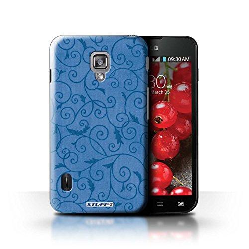 Kobalt® Imprimé Etui / Coque pour LG Optimus L7 II Dual / Rose conception / Série Motif de la vigne Bleu