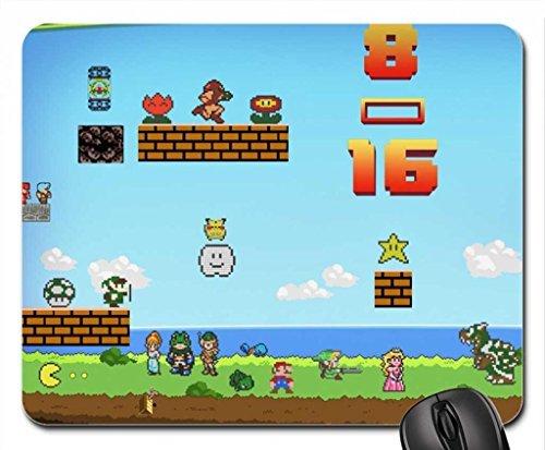 8–16Bit Nintendo Mauspad, Mousepad (25,9x 21,1x 0,3cm)