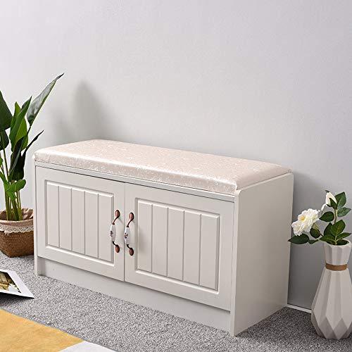 Keinode storage panca con 2cassetti 2lavabile cestino hall sedile cuscino scarpiera per soggiorno camera da letto bagno corridoio, type f