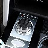 Interior Mouldings - Real Carbon Fiber Gear Shift Knob Decoration Cover Trim Sticker For for Jaguar XF XE XJ XJL F-Pace X761