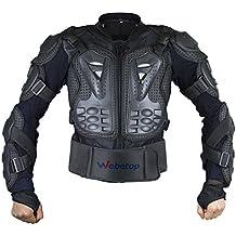 Webetop giacche moto Parts Full Body Abbigliamento di protezione della colonna vertebrale toracica Armatura Off Road Protector Motocross corsa Protettori per torace, XXL
