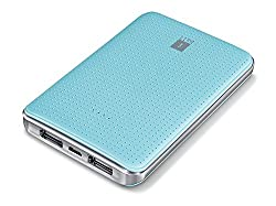 iBall Portable SLIM Power Bank With Dual USB Port & Rechargeable Power Battery 5000mAh - Sea Blue
