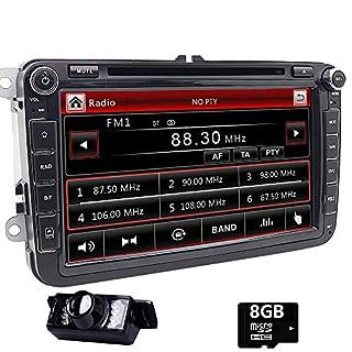 Doppel DIN GPS Auto-Stereo 20,3cm Touchscreen DVD Player inDash Navigation USB/SD FM AM RDS Autoradio BT Haupteinheit für VW Golf 56Polo Jetta Touran Eos Passat CC Tiguan Sharan Scirocco Caddy