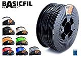 BASICFIL PET 2.85mm, 1 kg filamento de impresión 3D, Negro