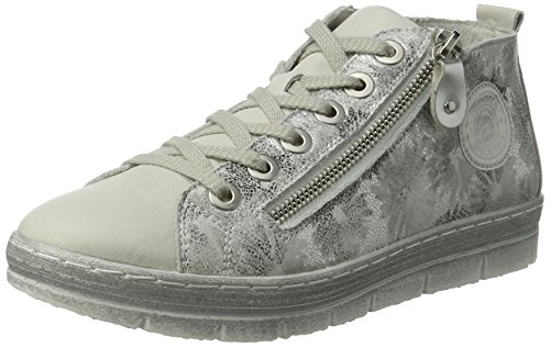 Remonte Damen D5870 High-Top Silber (offwhite/weiss/argento/weiss/80)