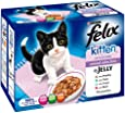 Felix Kitten Mixed Selection Pouch 12 x 100 g (Pack of 4)