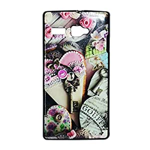 ksc sales New Rubber Finish Printed Silicone Soft Back Case Cover For Lava Flair P1i