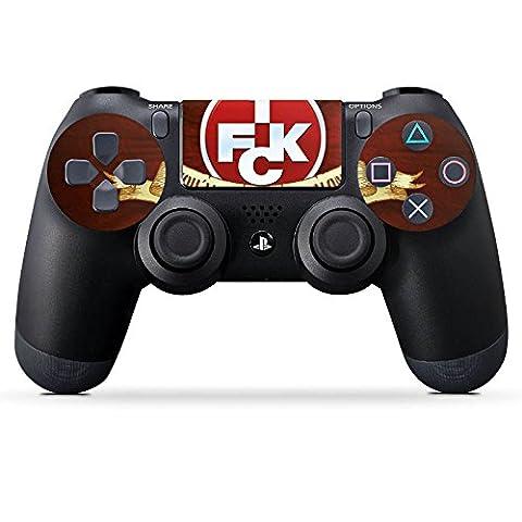 Sony Playstation 4 Controller PS4 Folie Skin Sticker aus Vinyl-Folie Aufkleber Weihnachtsgeschenk für Papa Vater Männer 1 FC Kaiserslautern Fanartikel