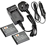DSTE® 2x Li-50B Rechargeable Li-ion Battery + DC16U Travel and Car Charger Adapter for Olympus Stylus 1010 1020 1030 9000 9010 SP-800UZ SP-810UZ SZ-10 SZ-11 SZ-12 SZ-15 SZ-20 SZ-30MR SP-720UZ iHS SZ-16 iHS Camera as OLYMPUS LI-50B PENTAX D-Li92 RICOH DB-100