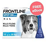 Frontline Spot On For Medium Dogs - 6 Pipettes - INCLUDES EXCLUSIVE PETWELL® FLEA AND TICK E BOOK