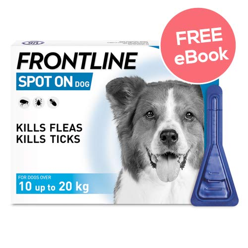 Frontline Spot On For Medium Dogs – 6 Pipettes – INCLUDES EXCLUSIVE PETWELL® FLEA AND TICK E BOOK