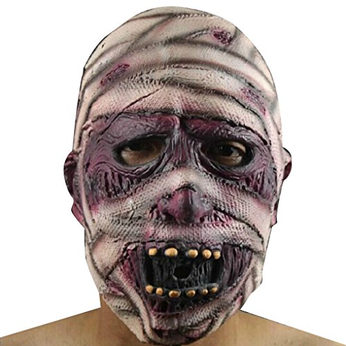 ELENXS Halloween Scary Latex Full Face Zombie Mumien Maske Horror Cosplay Masquerade Erwachsene ()