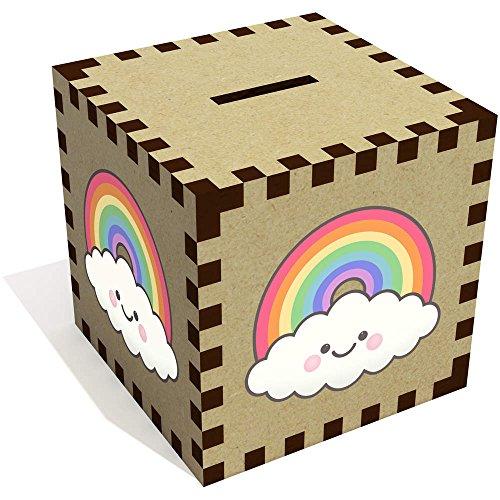 Azeeda 'Feliz Nube de Arcoiris' Caja de Dinero / Hucha (MB00069183)