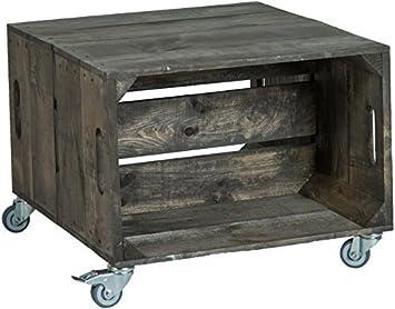 56 X 49 38cm Couchtisch Abstelltisch Couch Tisch Weinkiste Holzkiste Regal Obstkiste Regaltisch Wohnzimmertisch Dunkel Amazonde Kche Haushalt