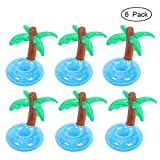 FOONEE aufblasbare Getränkehalter, aufblasbare Untersetzer Sommer Schwimmen Drink Floating Spielzeug, Pool Party und Kinder Viel Spaß Bad Spielzeug (6Pack) Blau