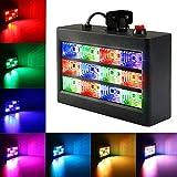 LED Stroboskope,SOLMORE RGB PAR Licht Disco Lampe Discolicht Party licht Beleuchtung Partybeleuchtung Projektor für Disco Geburtstag Hochzeit KTV 12LEDs 15W