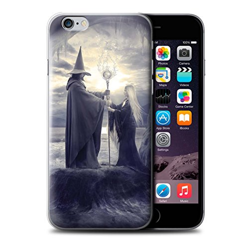 Officiel Elena Dudina Coque / Etui pour Apple iPhone 6S+/Plus / Autel/Rituel/Décès Design / Magie Noire Collection Maestro/Sorcier