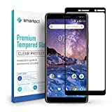 smartect Panzerglas für Nokia 7 Plus [Full Screen] - Bildschirmschutz mit 9H Härte - Panzerglas bedeckt ganzes Bildschirm komplett Full Cover