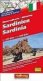 Motomap Sardinien 1 : 275 000 / 1 : 650 000: Die schönsten Strecken mit Sehenswürdigkeiten und Herbergen. GPS-Daten: Gratis Download der Motorradtouren (Hallwag Freizeitkarten)