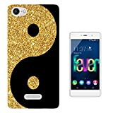 003250 - Gold and black ying yang Design Wiko Ridge Fab 4G