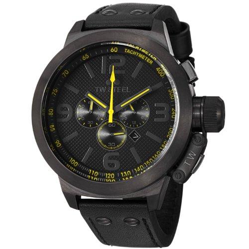 TW Steel - TW901 - Montre Mixte - Quartz Chronographe - Bracelet Cuir Noir