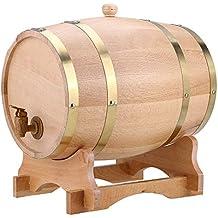 Barril de roble, 5 l, 10 l, madera de roble vintage, barril