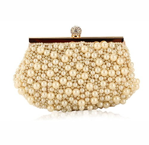 Strawberryer Europe Et Les États-Unis Fashion Handbags Craft Sacs à Main En Perles De Broderie Sac De Soirée High-end Banquet Décoration Wallet apricot