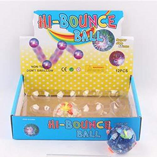 6.5cm 12pcs / Set Taschenlampe Elastic Springen Bouncing Balls Kinder-Spiel-Spielzeug